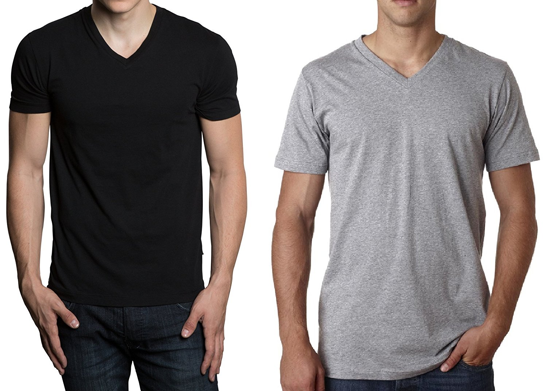 1324fb1cc Hanes Men's 6 Pack Ultimate FreshIQ V-Neck T-Shirt (Medium, Black