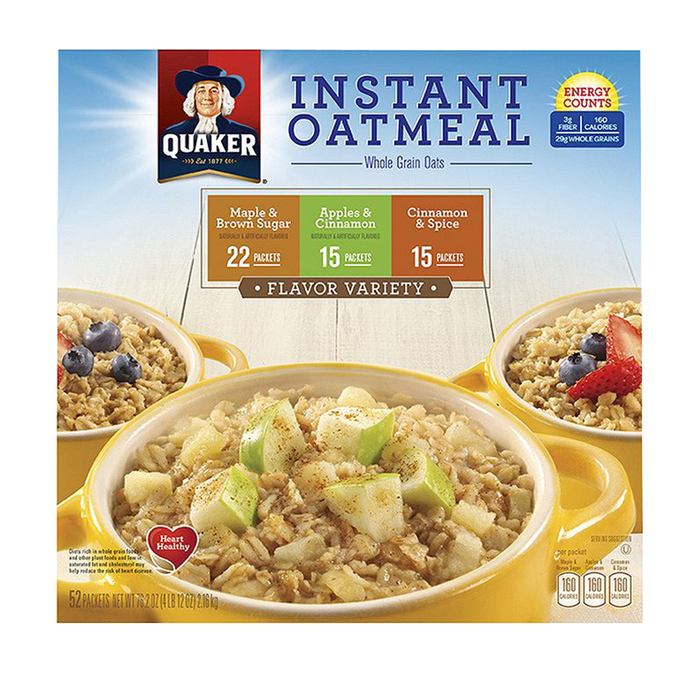 Quaker Instant Oatmeal Variety, 1 Pack -52 ct