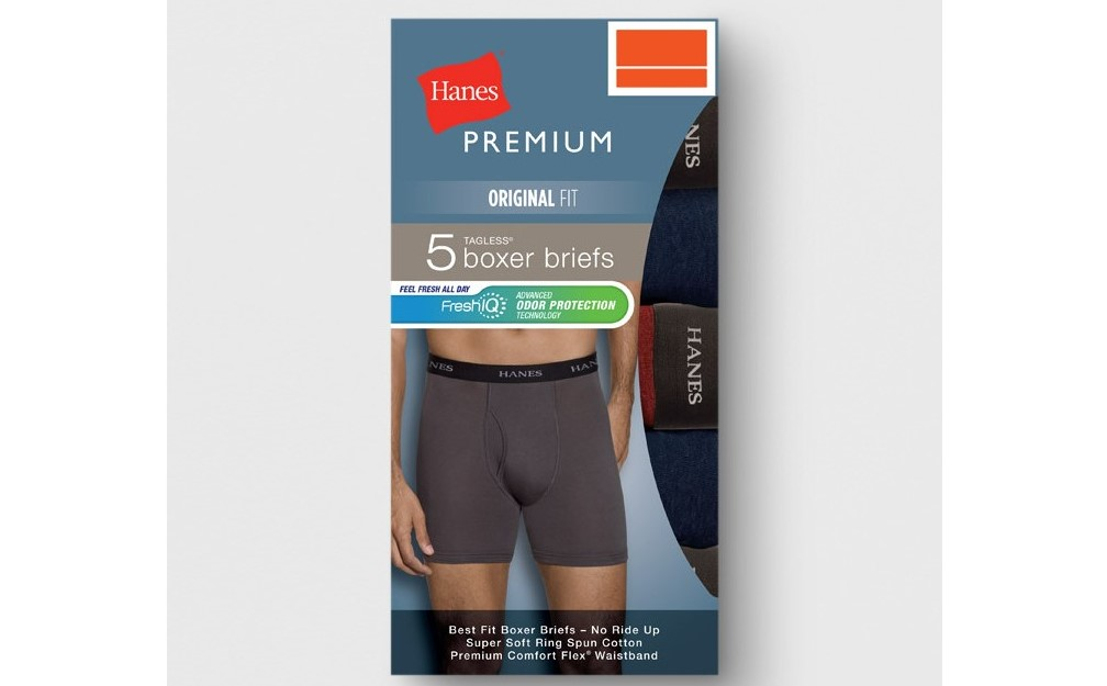HANES - BOXERS - SPORT INSPIRED ASSORTED COLORS w/ GREEN - 5PACK - 2XLARGE - Comfort Waistband - XXL