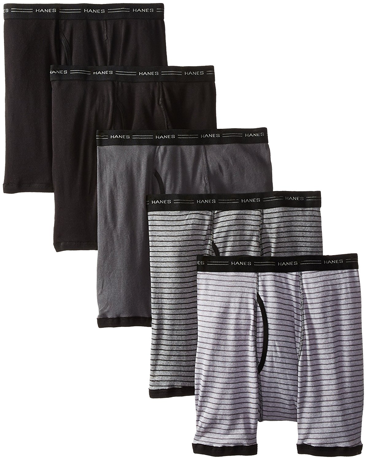 HANES - BOXERS - STRIPES ASSORTED - 6 PACK - FreshIQ Comfort Flex Red Label Stripes Waistband Boxer - 2XLARGE - 2XL