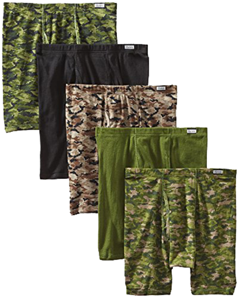 HANES - BOXERS - CAMO - 5-PACK - MEDIUM - Tagless Boxer Brief with Comfort Flex Waistband