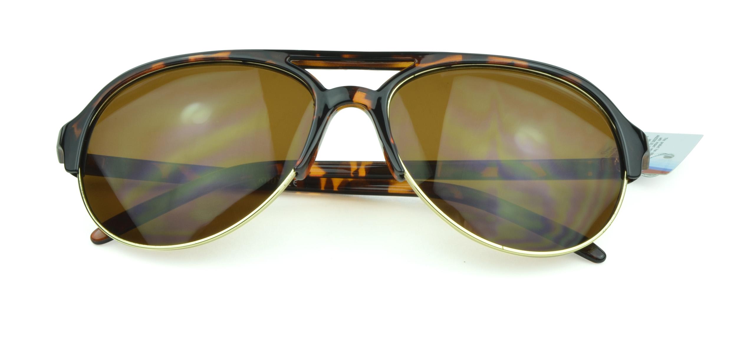 Belle Donne - Oversized Aviator Style Unisex Sunglasses- Tortoise