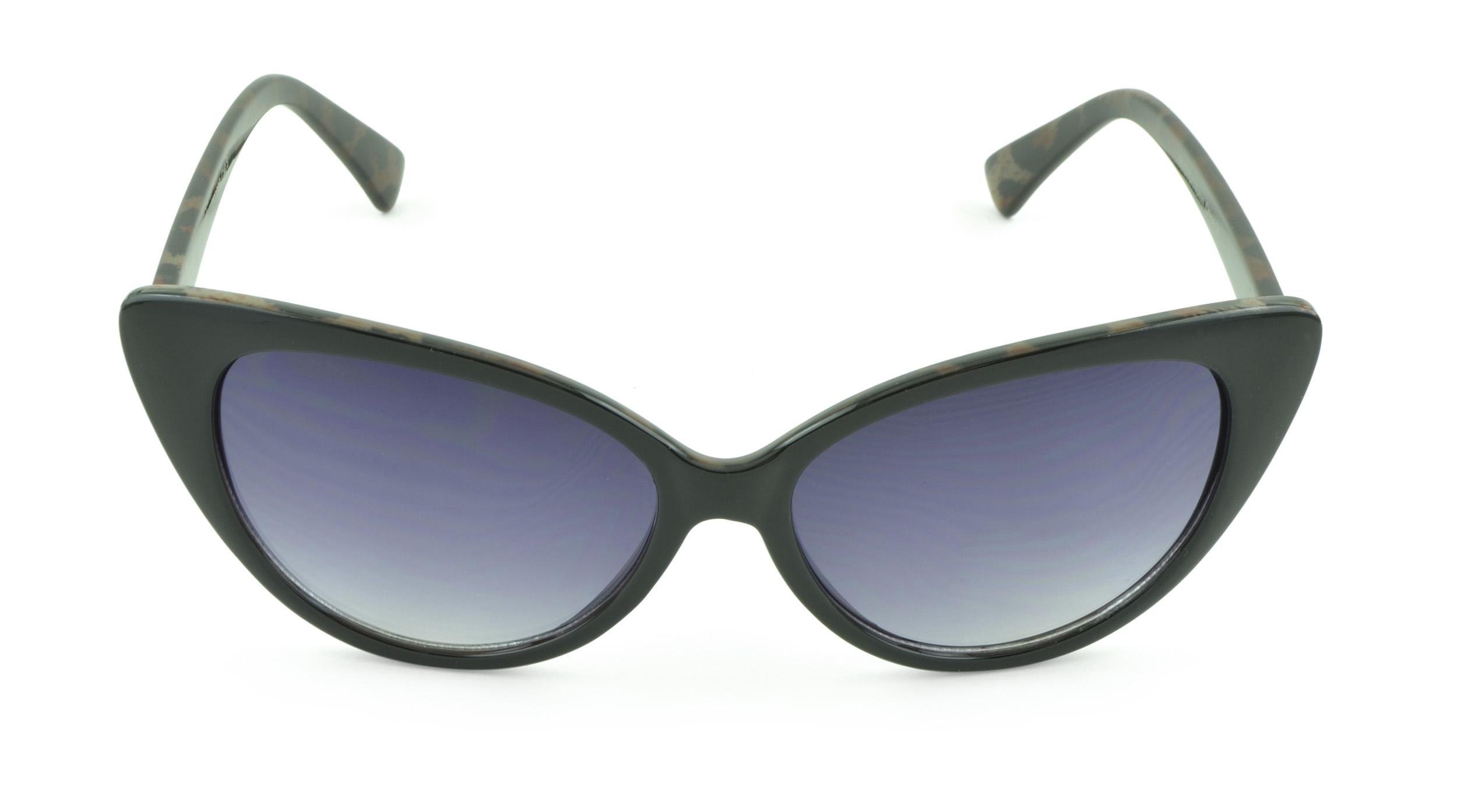 Belle Donne - Women's Fashion Kitten Retro Cat Eye Sunglasses - Black Cheetah