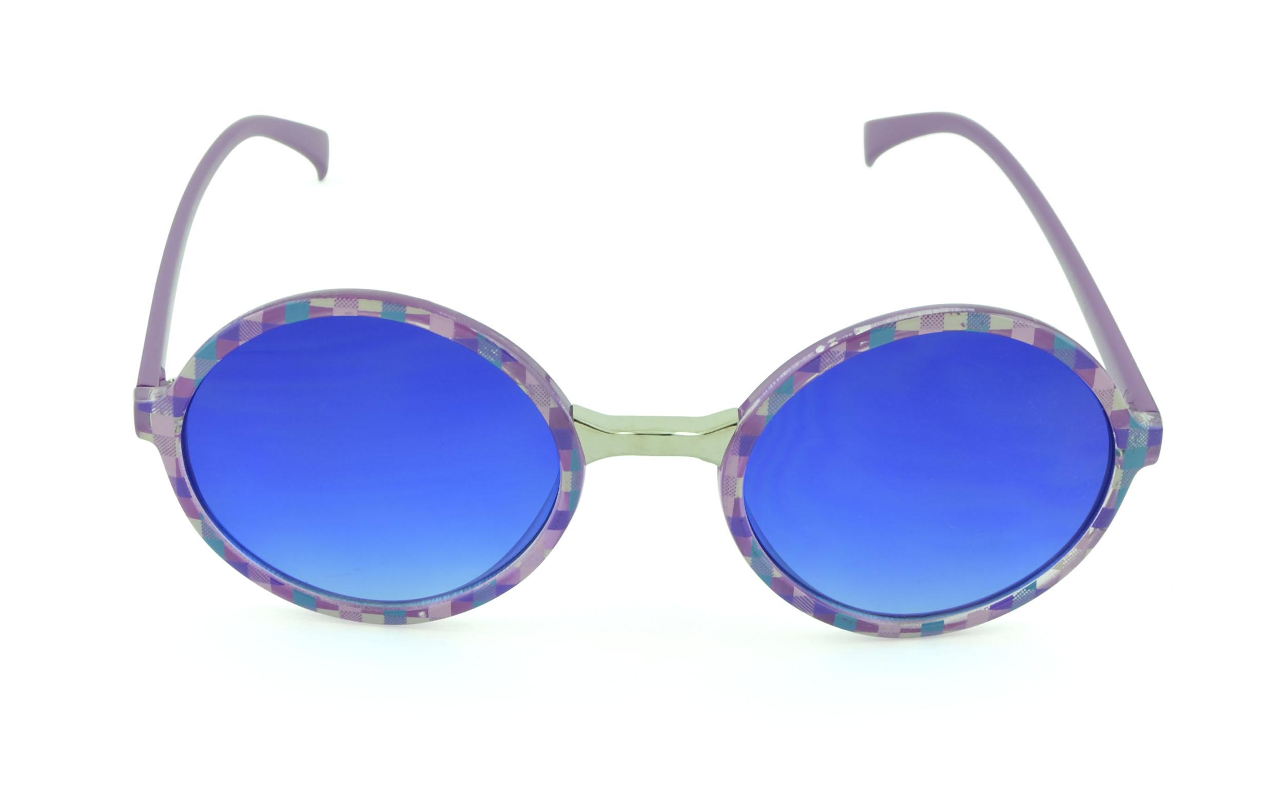 Belle Donne-Modern Futuristic Bold Womens Sunglasses | UV Protection |-T.Purple
