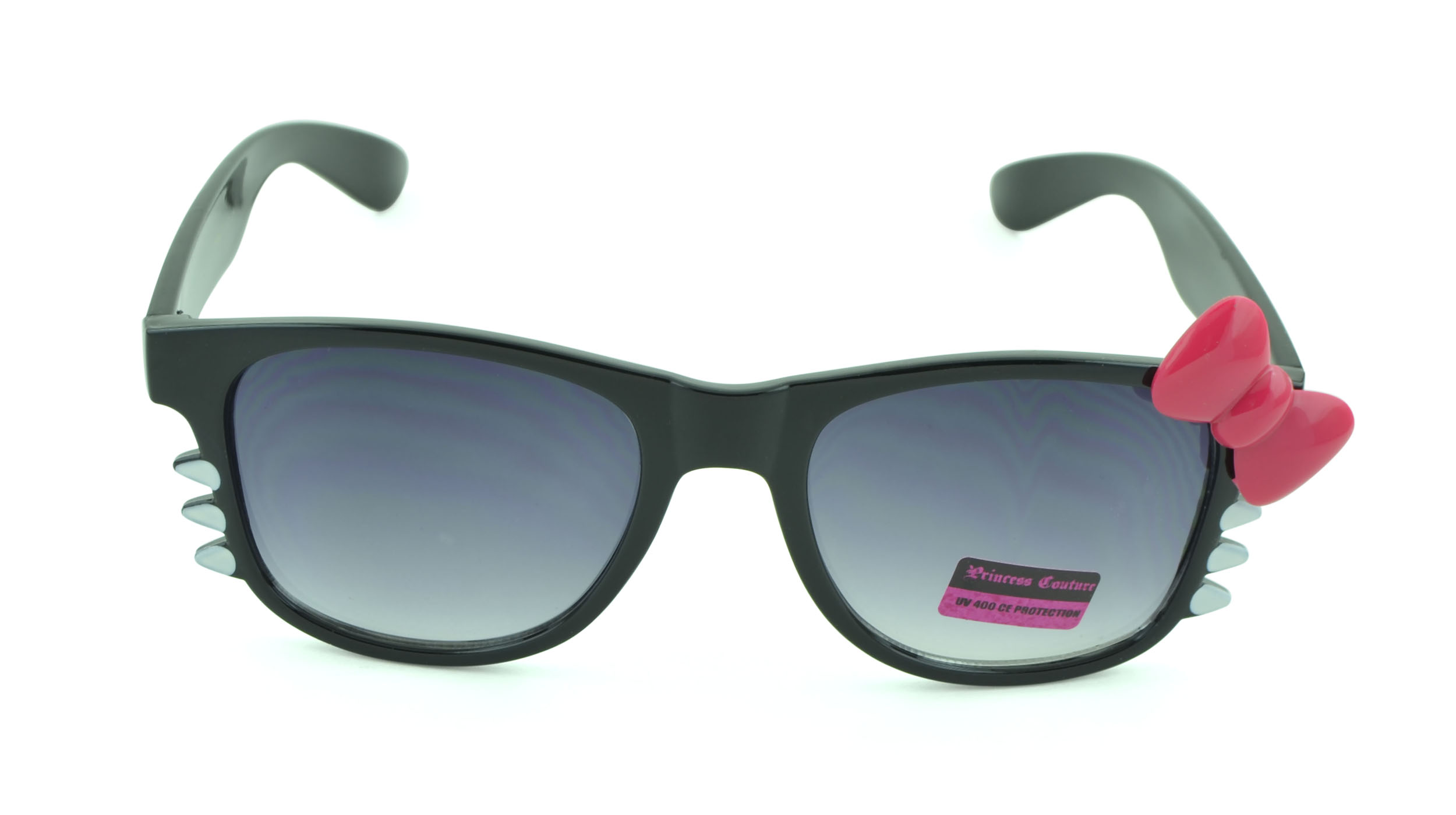 Belle Donne-Women's Kitty Cat Style Sunglasses | Whiskers and Bow Accent-Pink