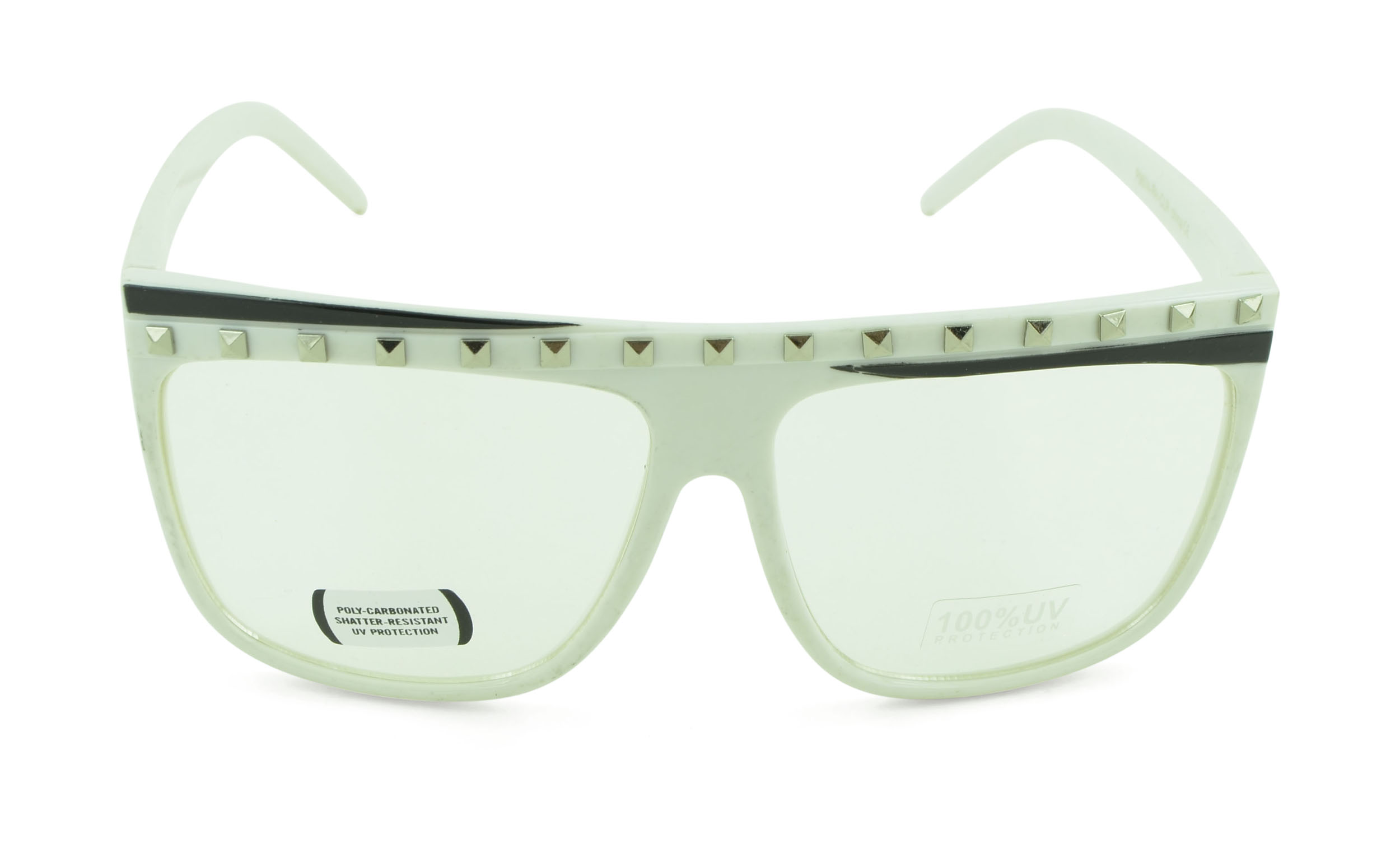 Belle Donne-Unisex Trendy Fun Colorful Fashion Party Sunglasses - White2