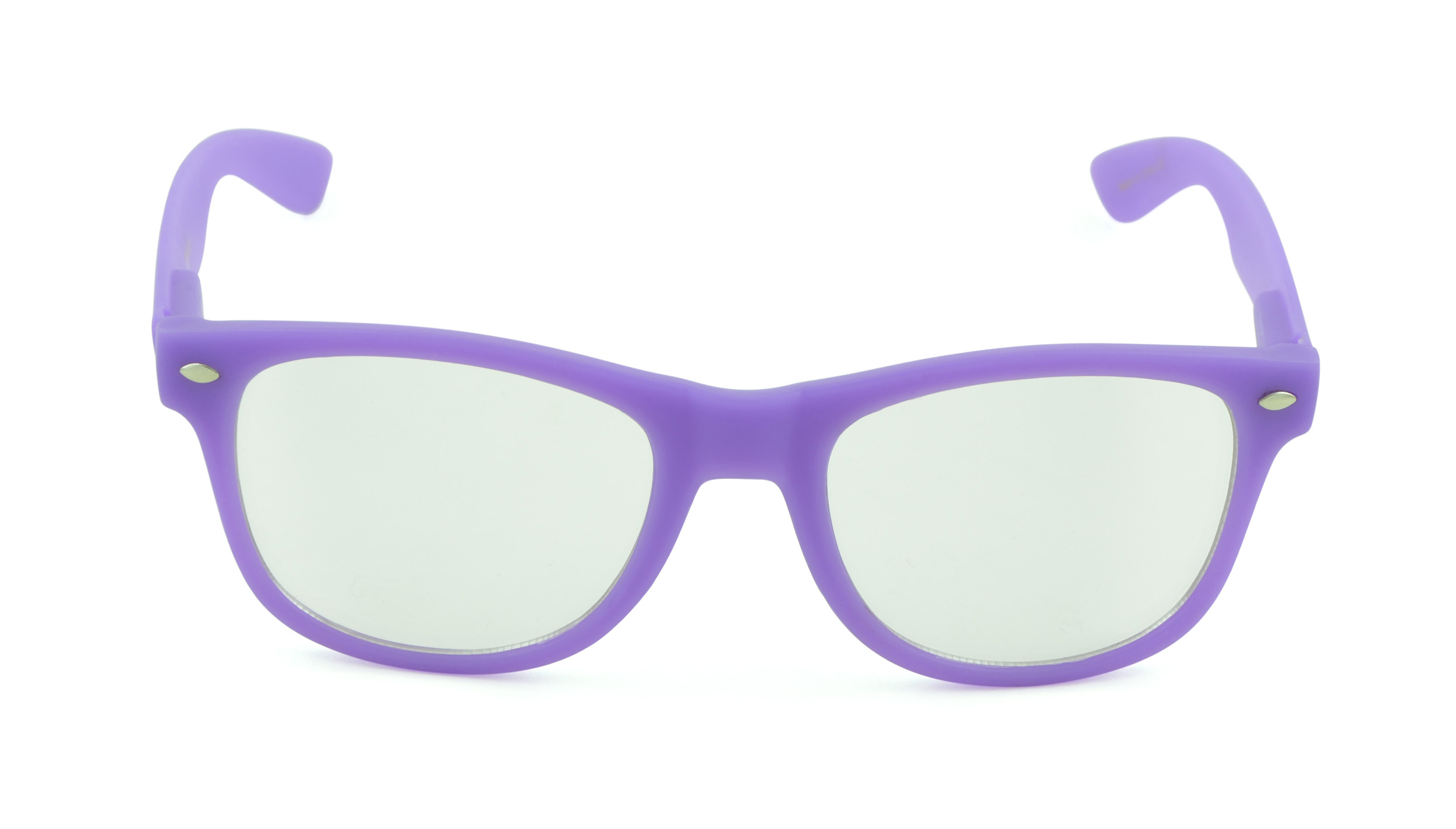 Belle Donne - Unisex Cool Rave Style Glow in the Dark Sunglasses- Purple