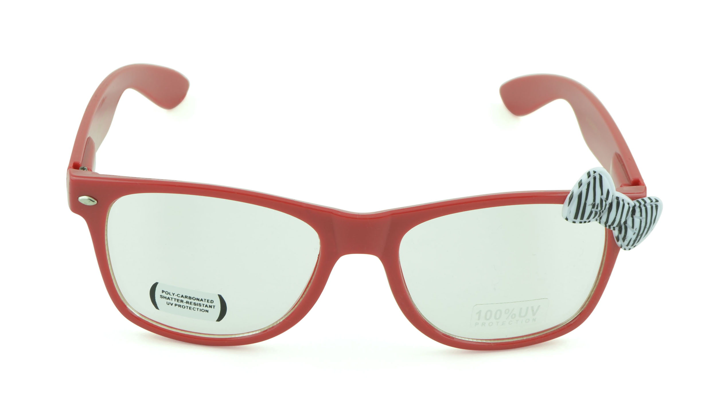 Belle Donne-Women's Kitty Cat Style Sunglasses | Whiskers and Bow Accent-Red