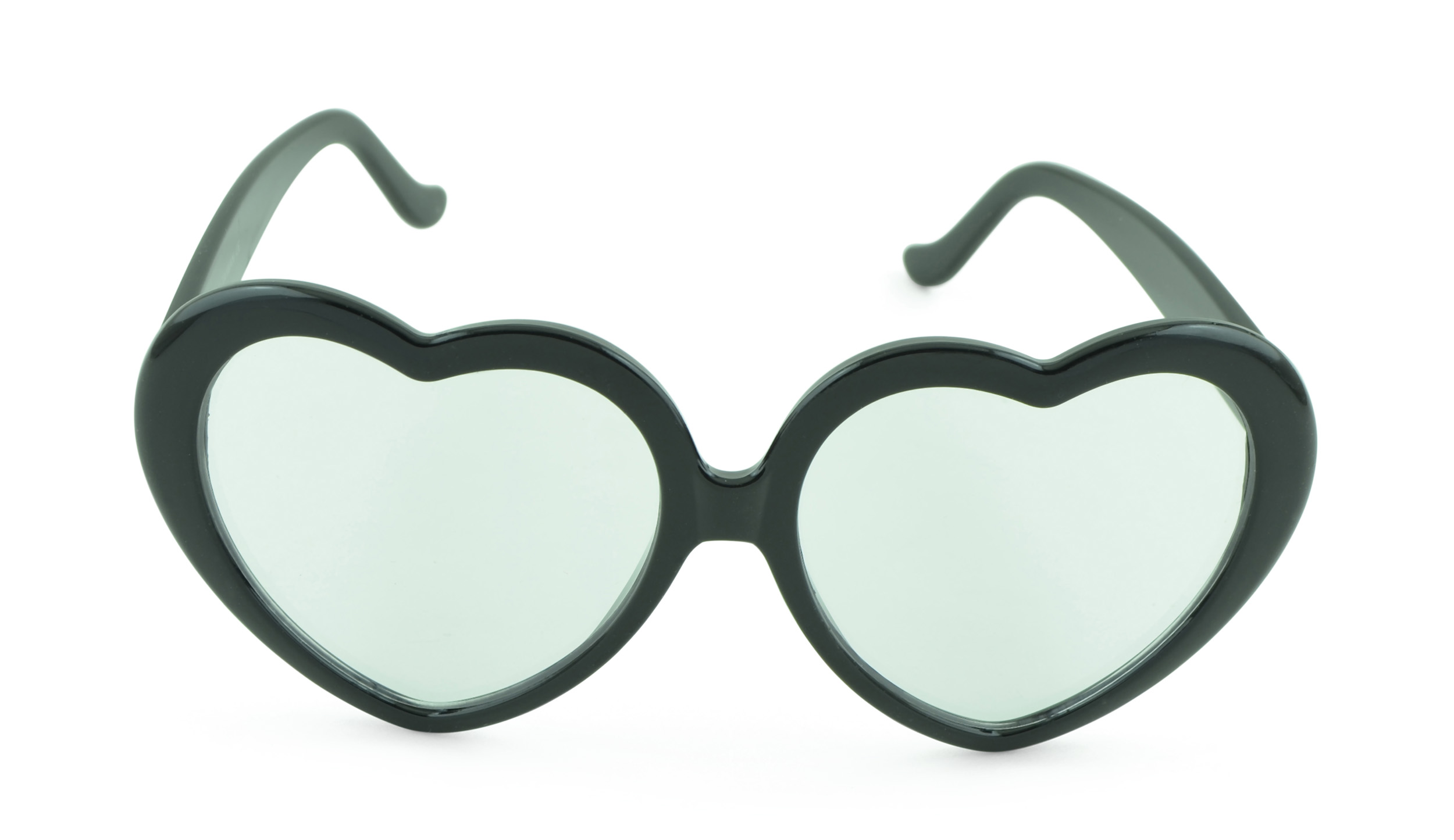 Belle Donne- Womens Cute Shades Fashion Trendy Heart Shaped Sunglasses-Black