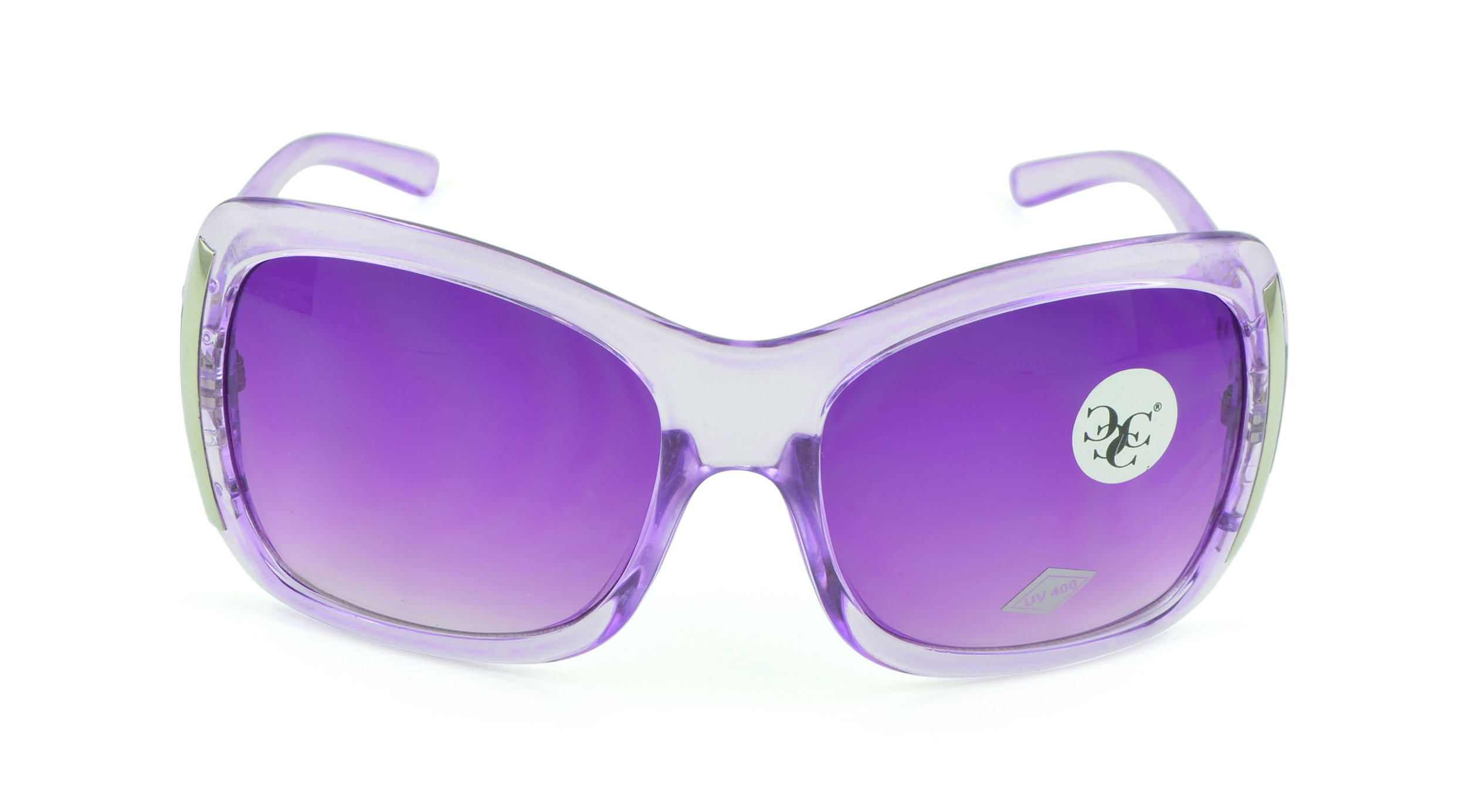 Belle Donne - Women's Unique and Stylish Fashion Sunglasses - Clear Studded Oversized Sunglasses for Women and Girls - Trendy Ladies Sunglasses - UV P