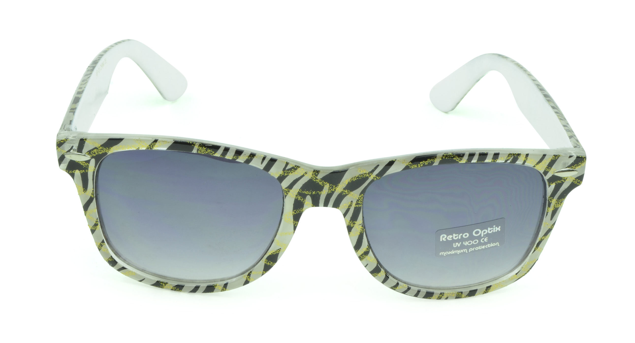 Belle Donne - Wayfarer Style Sunglasses Trendy Cheap Sunglasses High Quality Animal Print - White