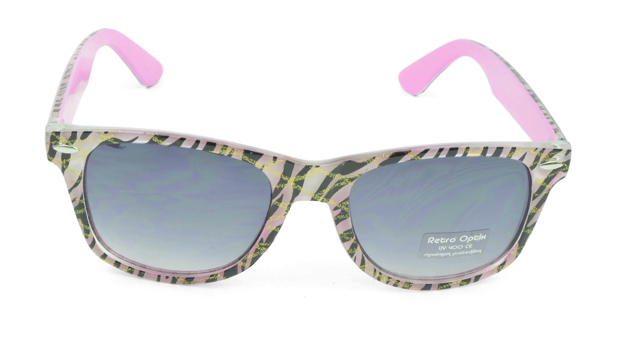 Belle Donne - Wayfarer Style Sunglasses Trendy Cheap Sunglasses High Quality Animal Print - Pink