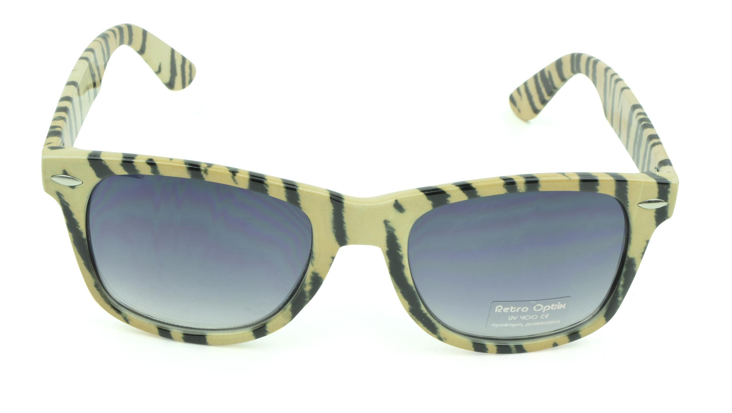 Belle Donne - Wayfarer Style Sunglasses Trendy Cheap Sunglasses High Quality Animal Print - Tan
