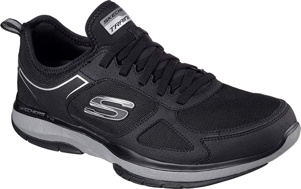 Skechers Men's Burst TR Trainer,Black/Charcoal,US 11 M