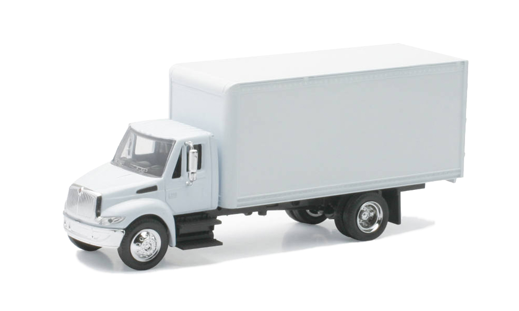Personalized This Diecast Truck 1:43 Scale International 4200 White Box Truck - White