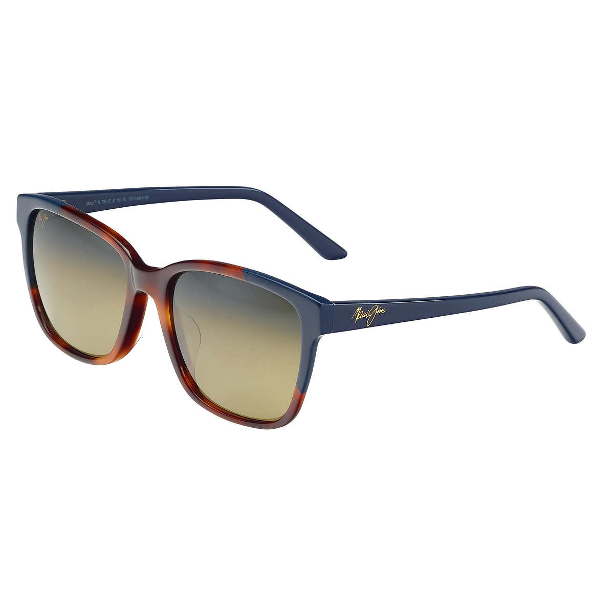 Maui Jim Moonbow Polarized Sunglasses Tortoise with Navy Blue/HCL Bronze One Size