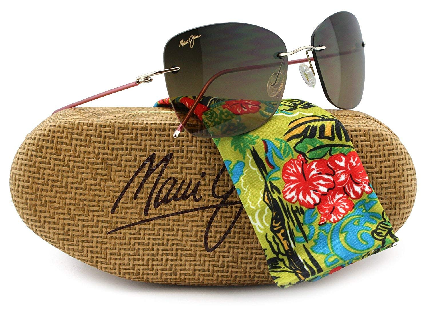 74c490c7f492 Maui Jim HS717-16 Apapane Sunglasses 16H w  HCL Bronze HS717 16 55mm  Authentic
