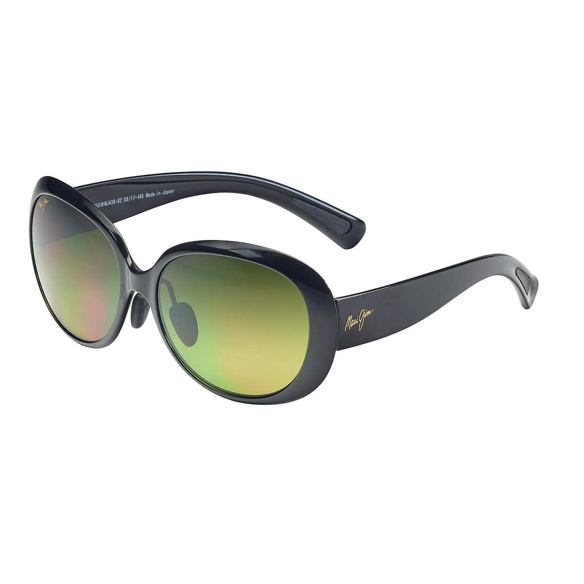 Maui Jim HTS436-02 Nahiku Polarized Sunglasses Gloss Black Frame / Maui HT Lens