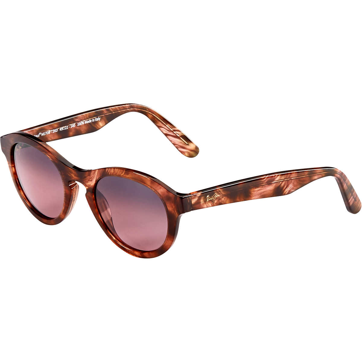 Maui Jim RS708-26D Leia Sunglasses Brown Feathered w/Maui Rose RS708 26D 49mm Authentic