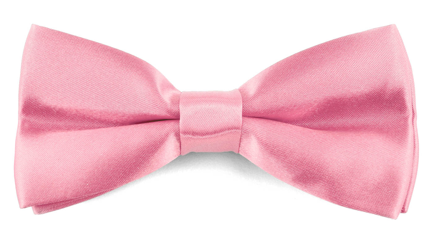 Classic Bow Ties For Men Adjustable Banded Pre-Tied Wedding Tuxedo - Dust Pink