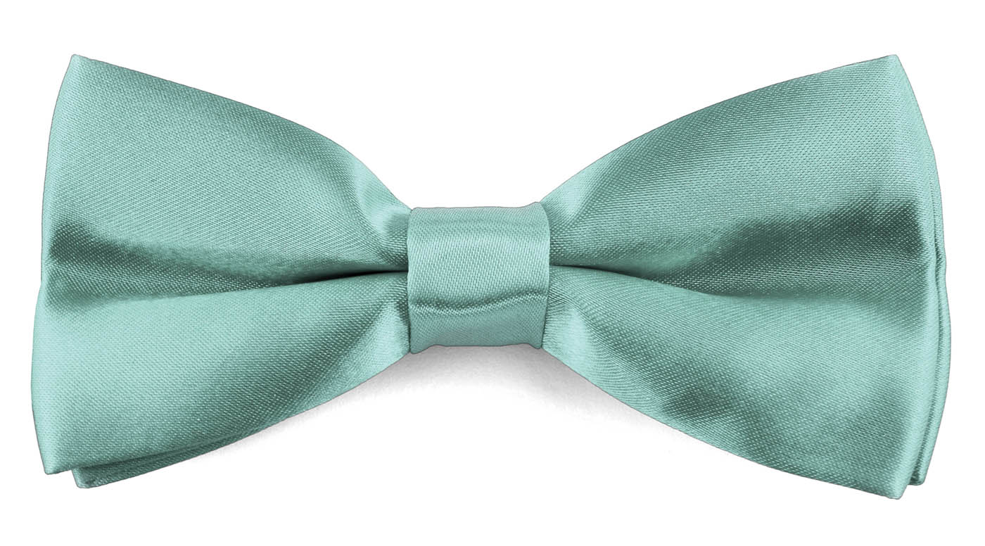 Classic Bow Ties For Men Adjustable Banded Pre-Tied Wedding Tuxedo - Turquoise Blue