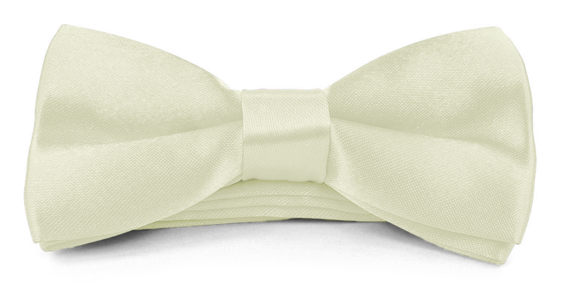 Boys Kids Childs Bow ties - Adjustable Pre Tied 4x2 Satin Silk Bowties Moda Di Raza - Off White