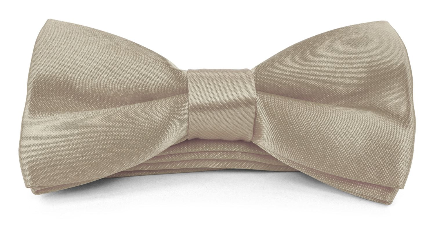 Moda Di Raza - Boy/Men's Bow Tie Pre Tied 4x2 inch Formal Casual BowTies - Champagne