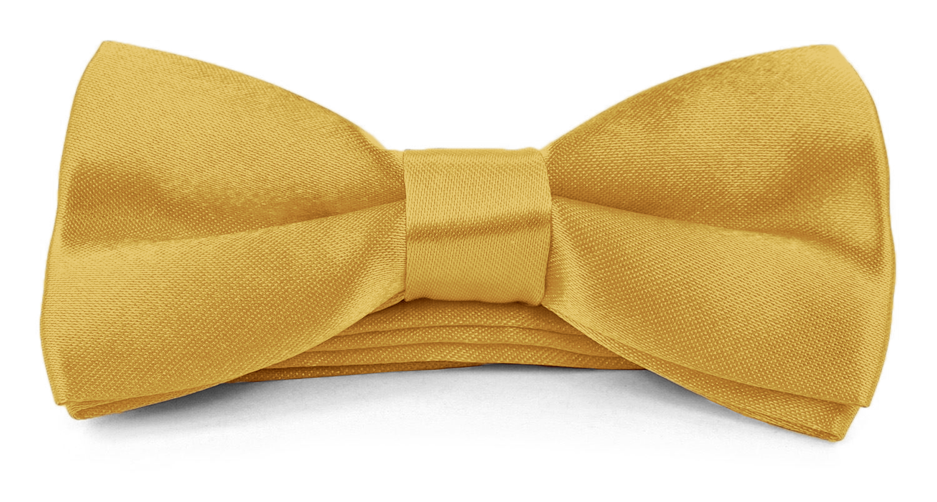 Moda Di Raza - Boys/Young Men Banded Bow Tie Pre Tied 4x2 Satin Silk BowTies - Golden Yellow
