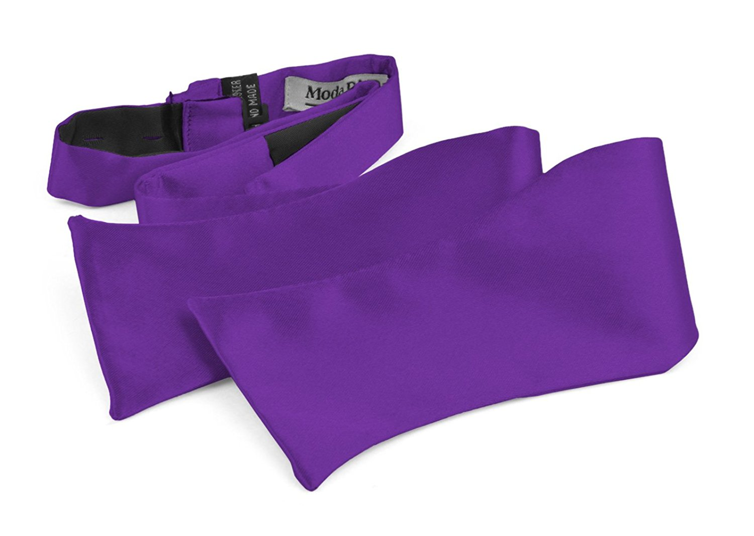 Bow Ties For Men's Adjustable Self Tied Gift Box Moda Di Raza - Violet Purple
