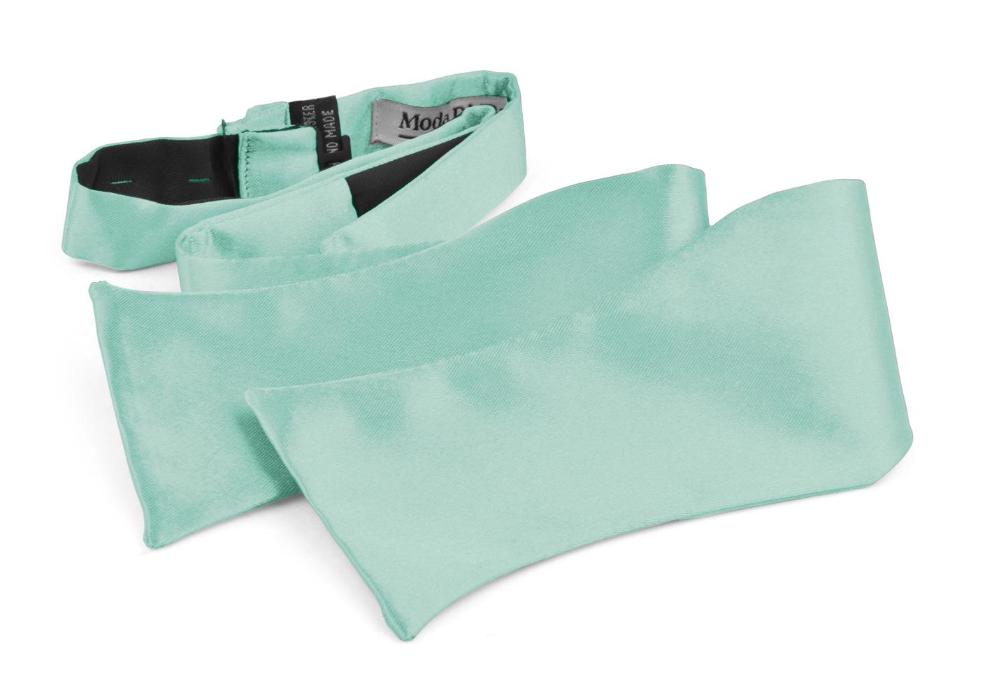 Bow Ties For Men's Adjustable Self Tied Gift Box Moda Di Raza - Aqua