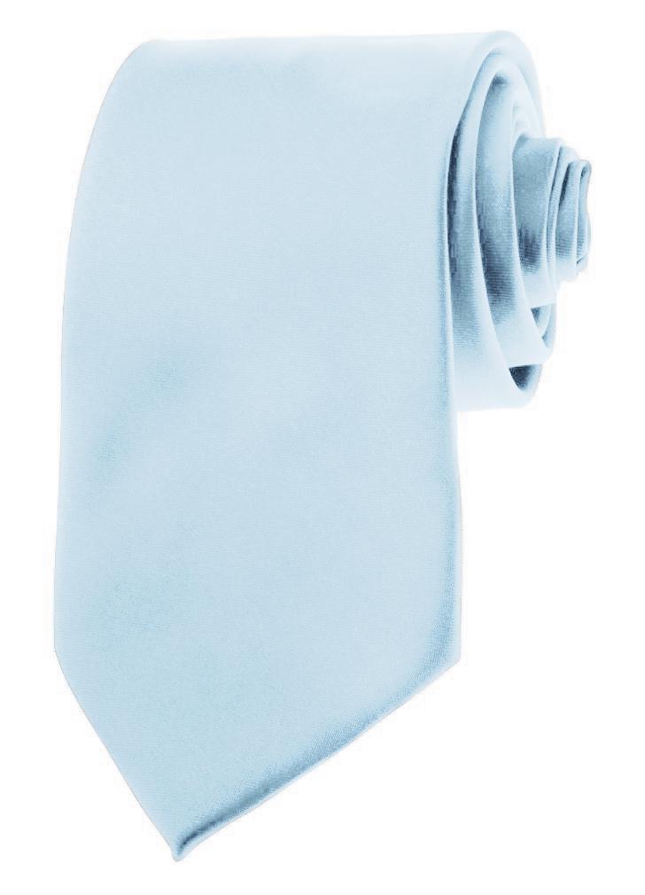 "Mens Neckties - Solid Color Ties - 3.5"" Basic Neck Ties for Men by Moda Di Raza - Powder Blue"