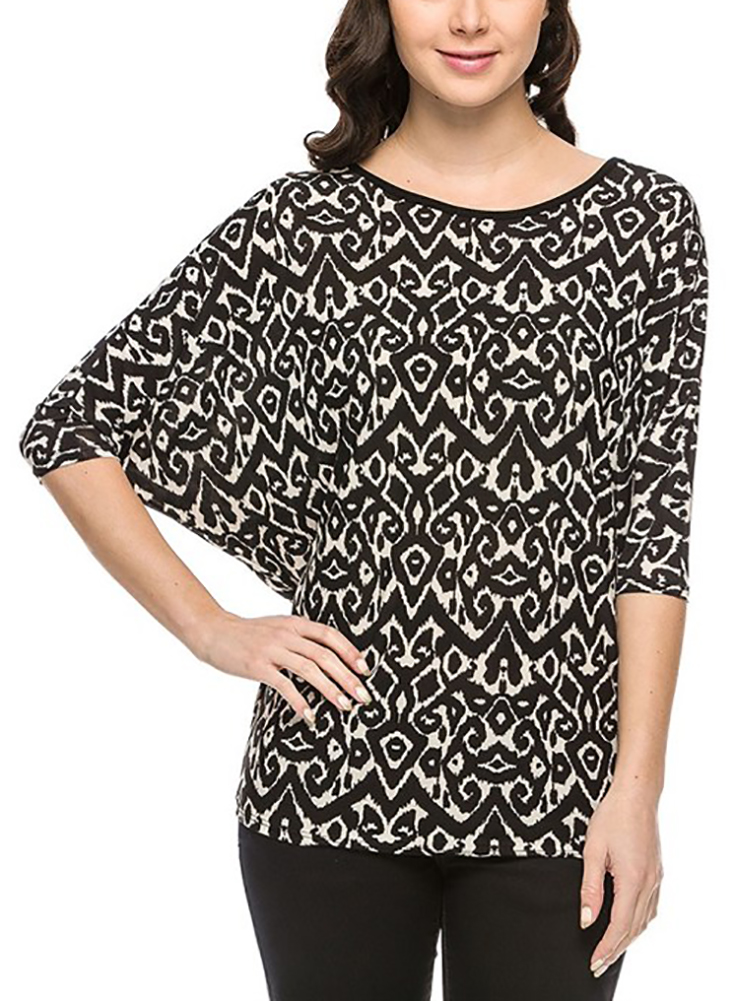Tunic Tops For Women Long Loose Jersey Shirt Casual Formal Belle Donne - White 2X-Large