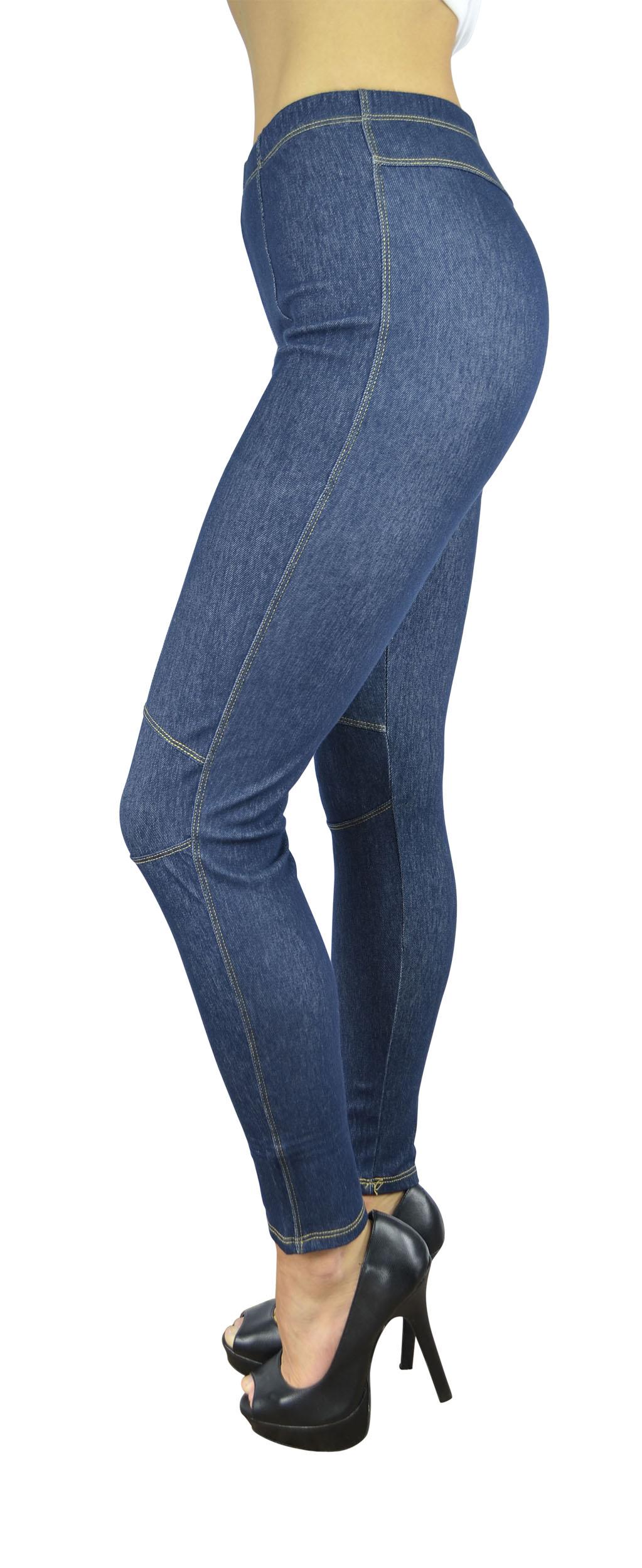 Belle Donne Women's Legging Jeggings Footless - Knees-Blue