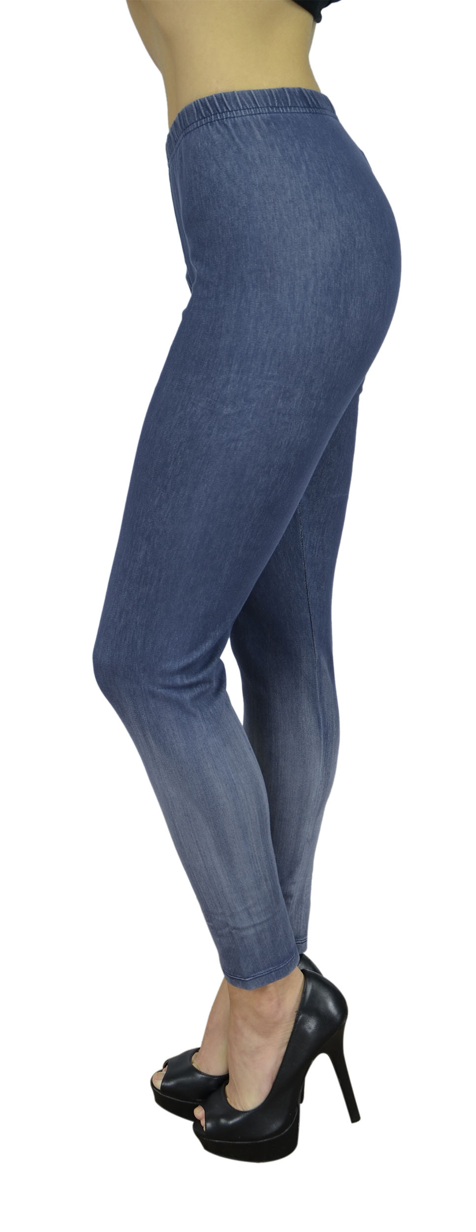 Belle Donne Women's Legging Jeggings Footless - Blue