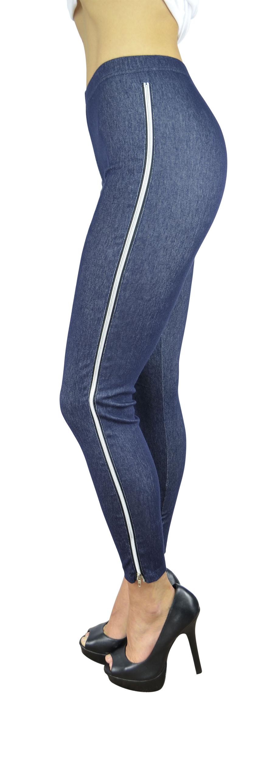 Belle Donne Women's Legging Jeggings Footless - Blue