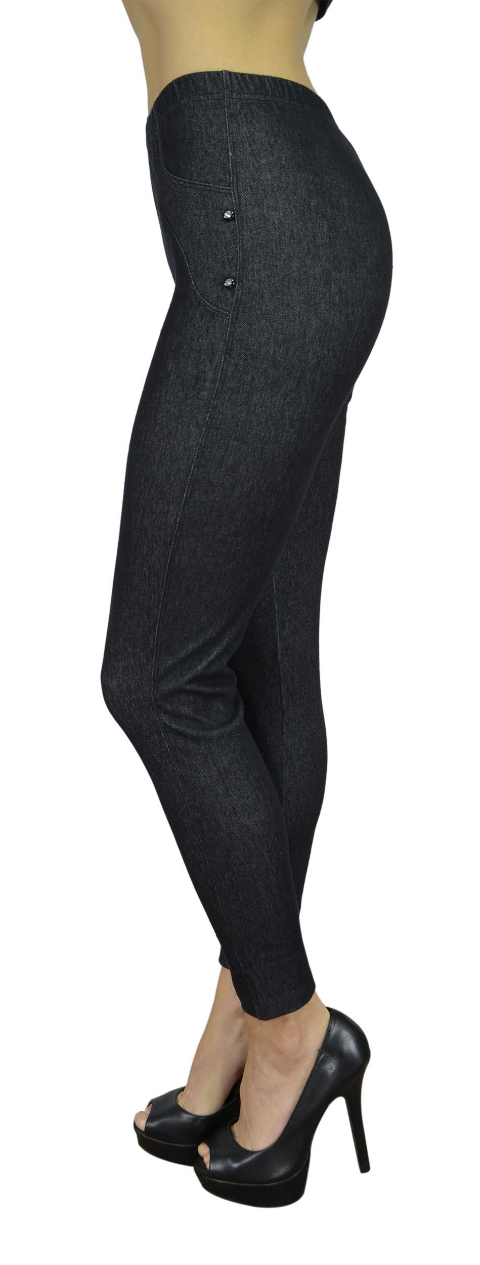 Belle Donne Women's Legging Jeggings Footless - Jegging-Black