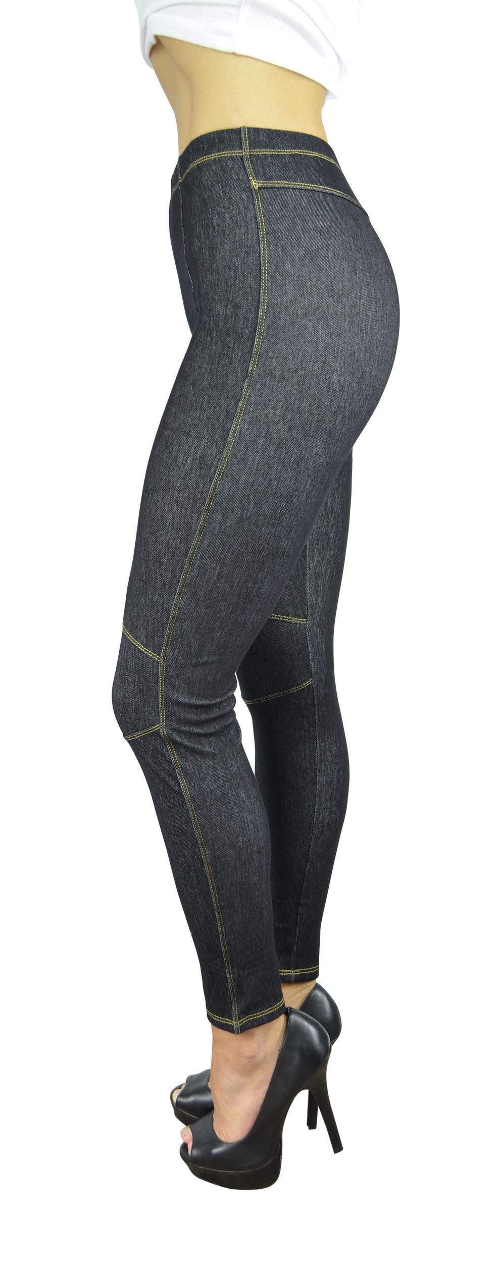 Belle Donne Women's Legging Jeggings Footless - Knees-Black