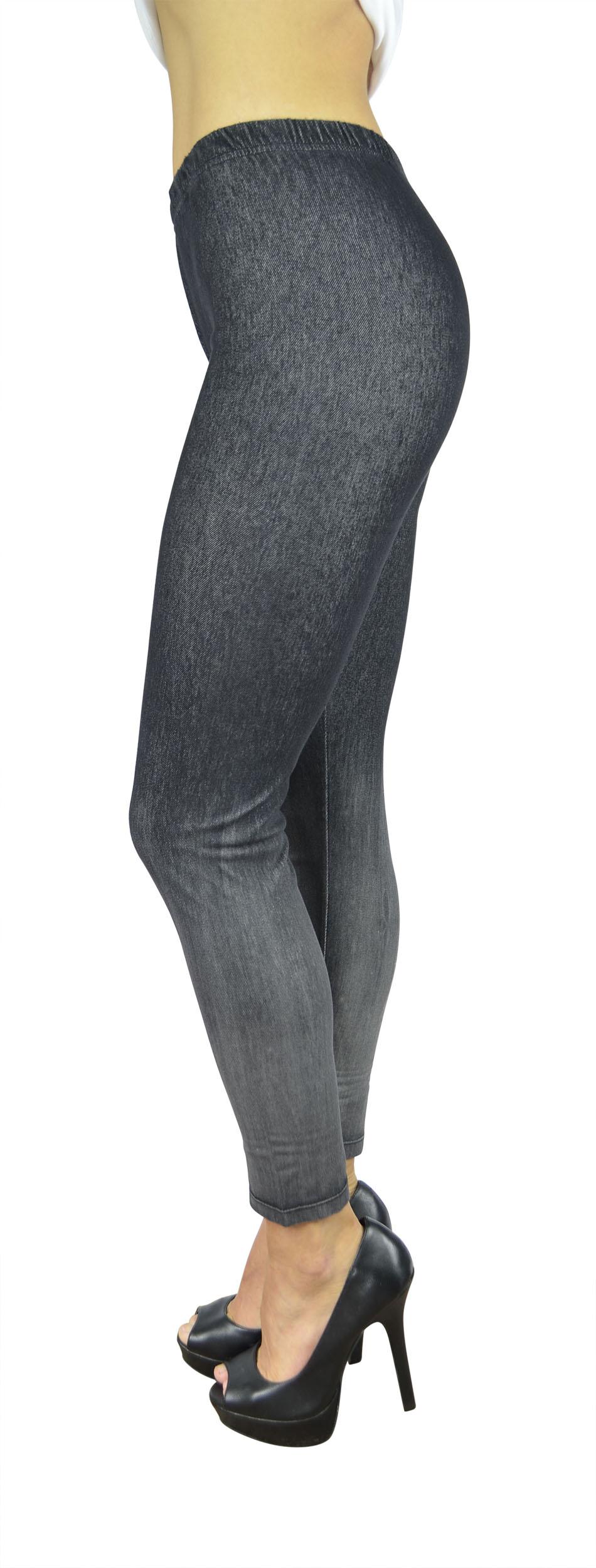 Belle Donne Women's Legging Jeggings Footless - Omber Dip Dyed-Black