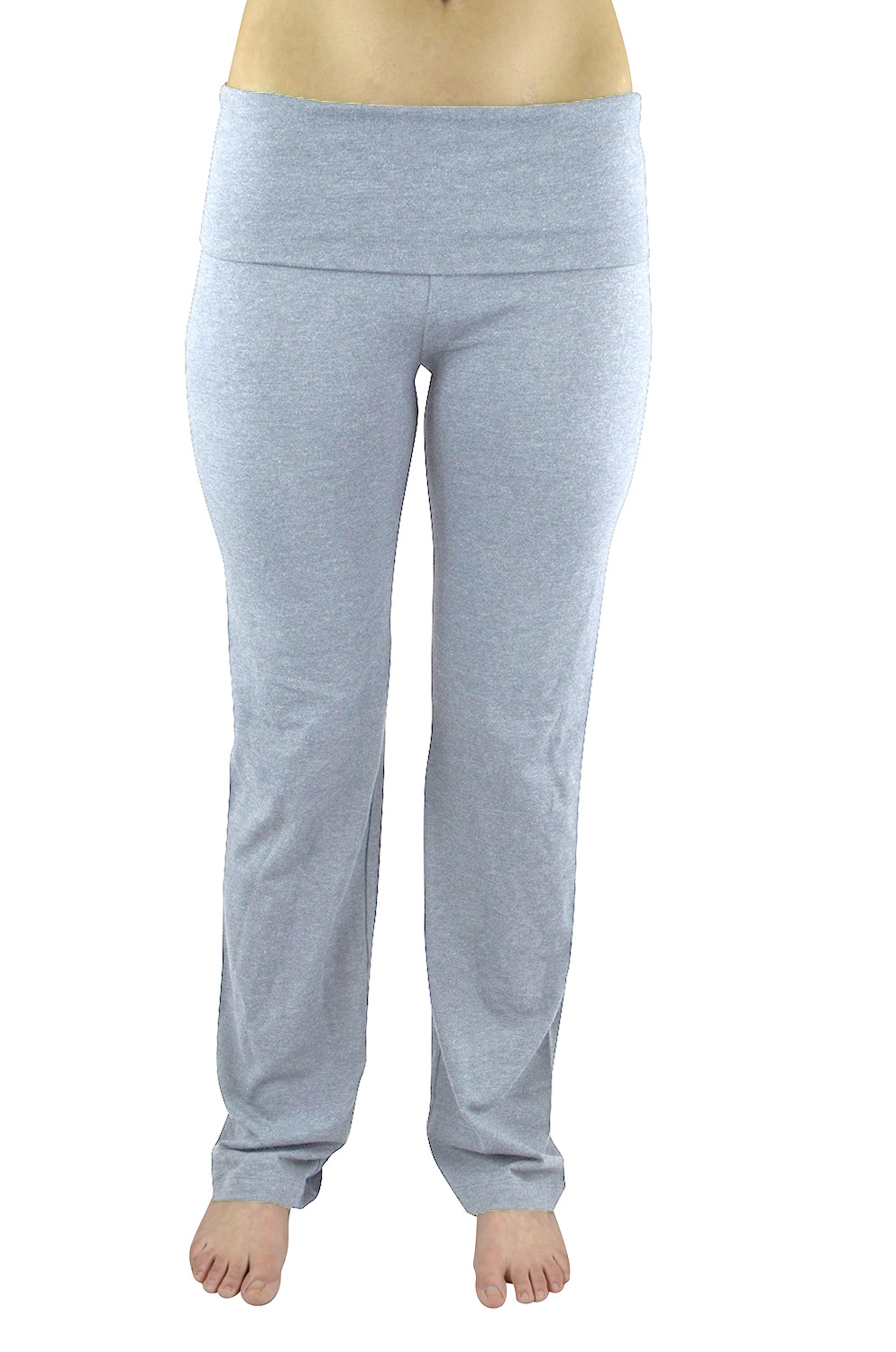Belle Donne- Women's Solid Color Stretch Gym Casual Yoga Pants -H. Grey/Small