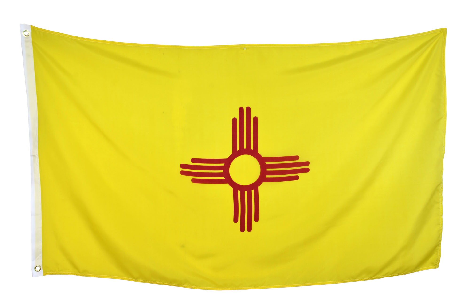 Shop72 US New Mexico State Flags - New Mexico Flag - 3x5' Flag from Sturdy 100D Polyester - Canvas Header Brass Grommets Double Stitched from Wind Sid