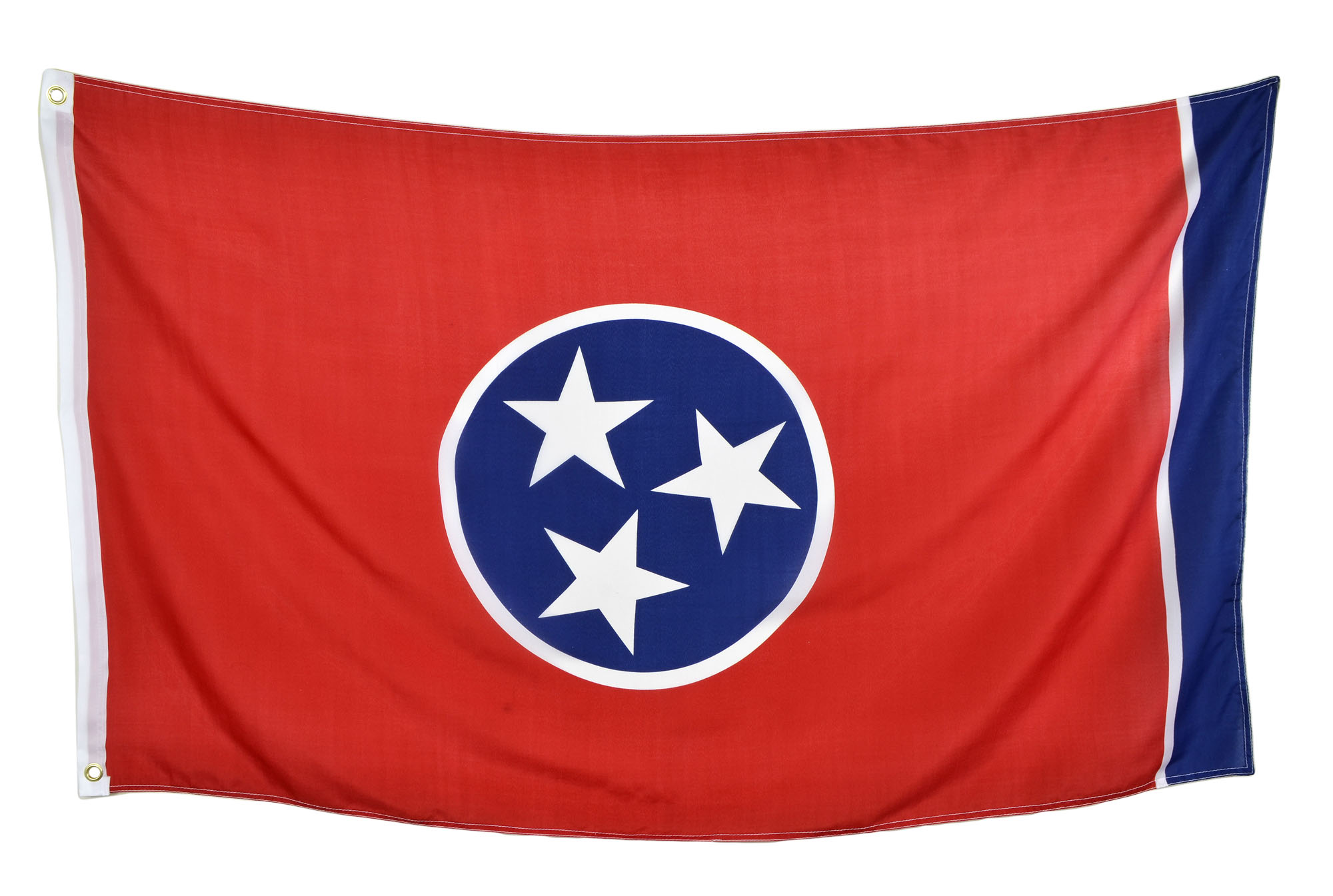 Shop72 US State Flags - Tennessee - 3x5' Flag from Sturdy 100D Polyester - Canvas Header Brass Grommets Double Stitched from Wind Side