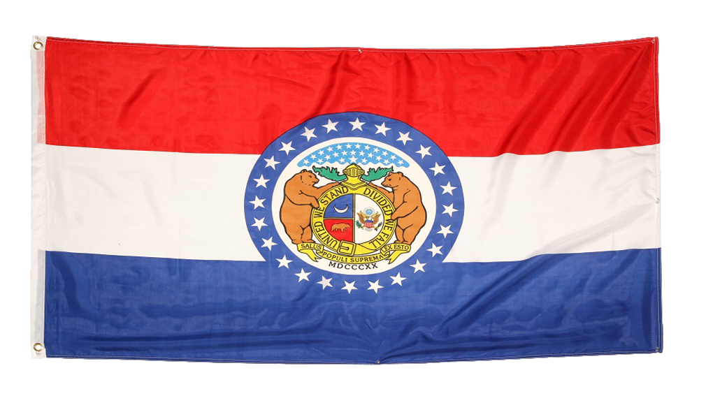 Shop72 US Missouri State Flags - Missouri Flag - 3x5' Flag from Sturdy 100D Polyester - Canvas Header Brass Grommets Double Stitched from Wind Side