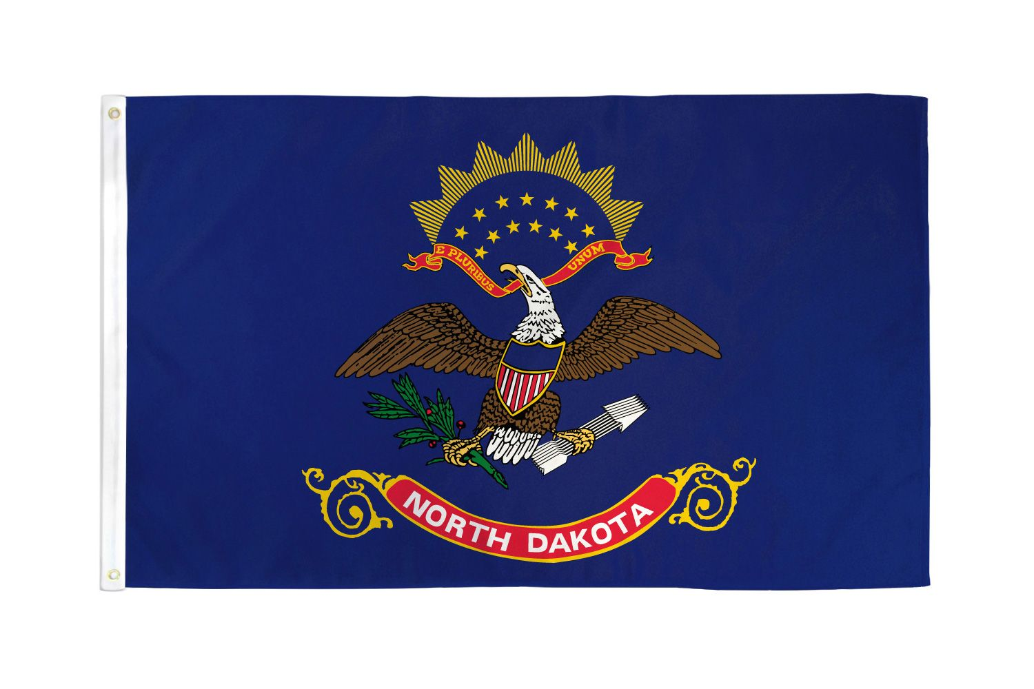 Shop72 - High Quality US State Flags - 100D 3x5 Polyester Flags - NorthDakota One Size