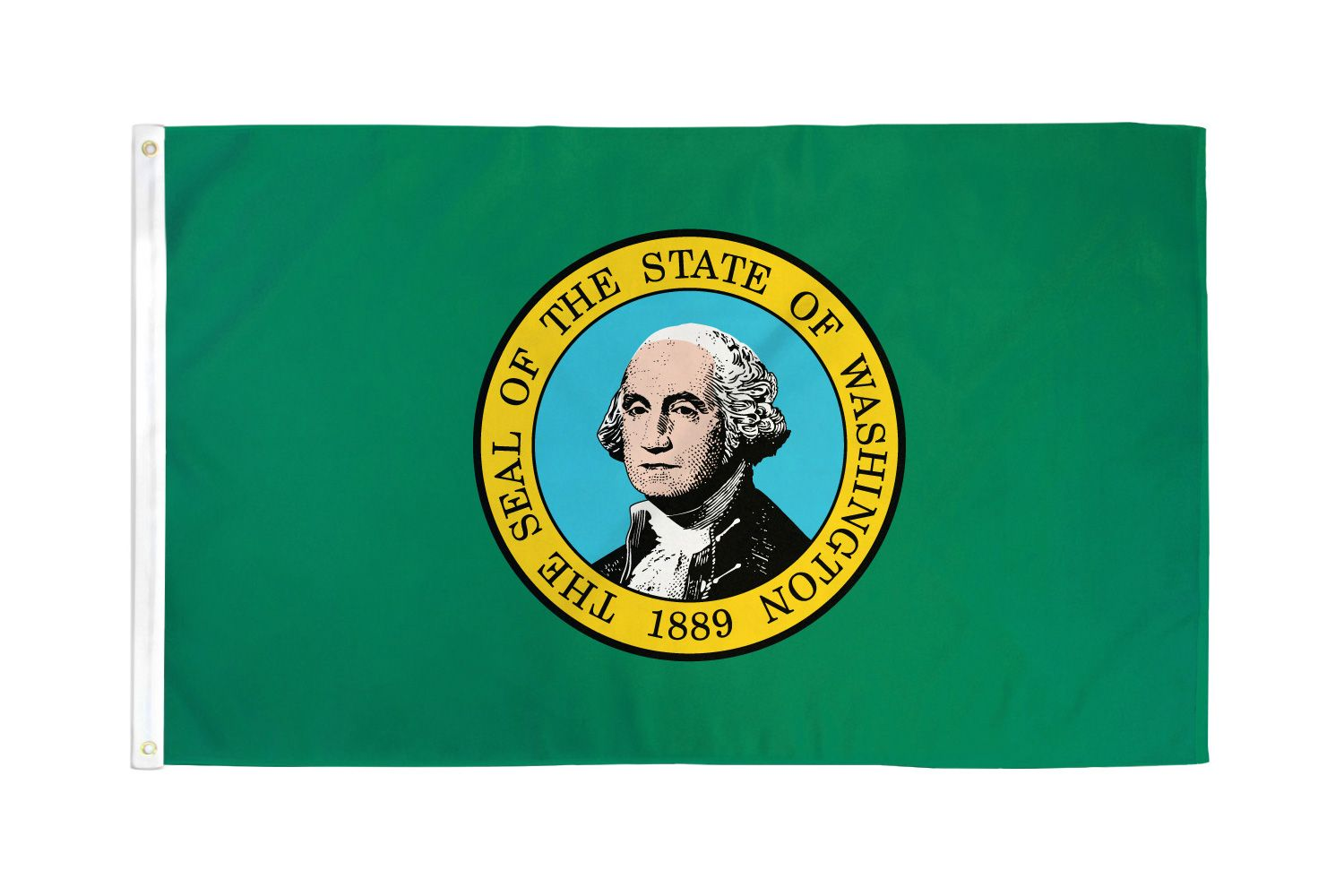 Shop72 - High Quality US State Flags - 100D 3x5 Polyester Flags - Washington-ST One Size