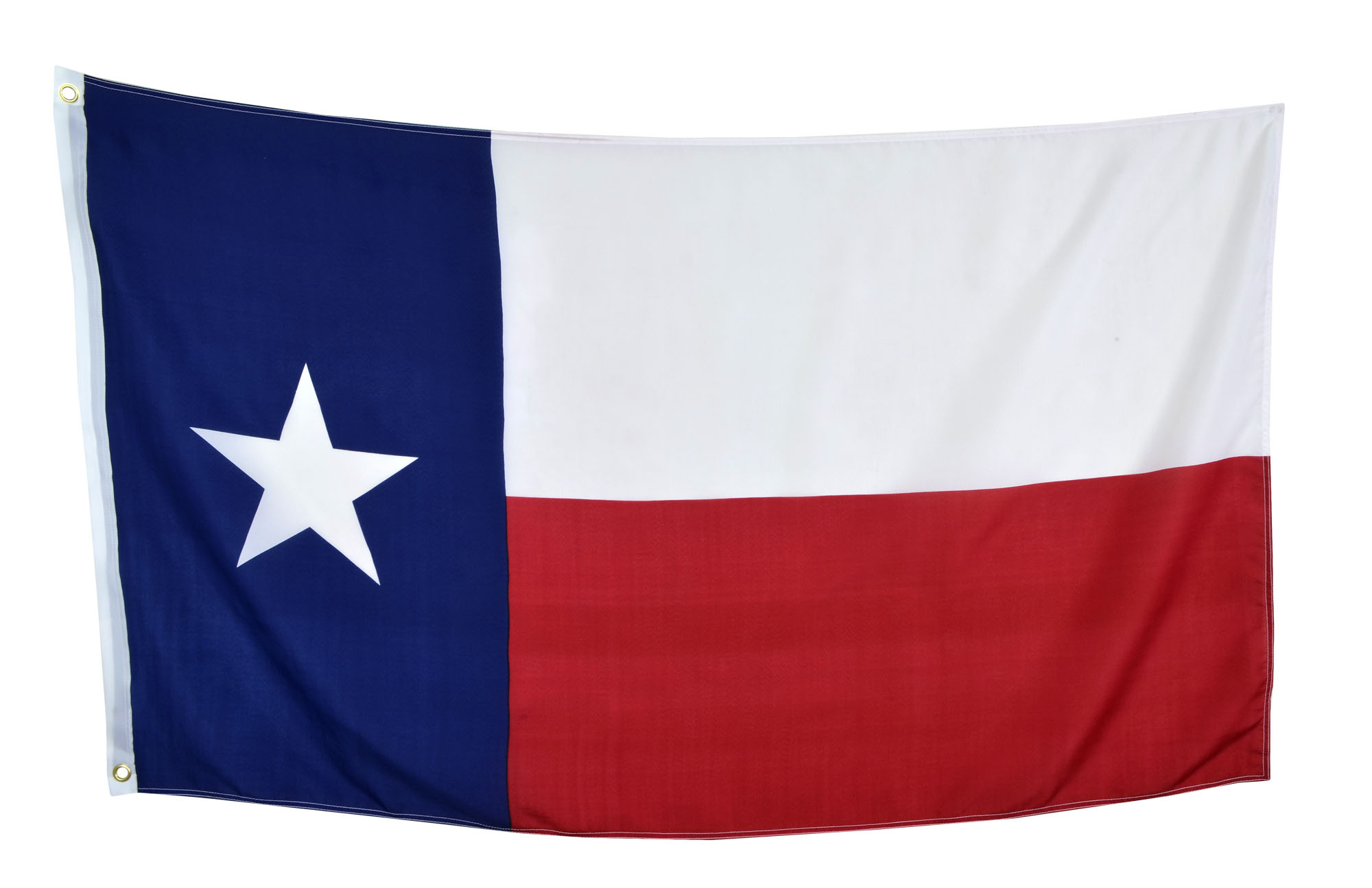 Shop72 US Texas State Flags - Texas Flag - 3x5' Flag from Sturdy 100D Polyester - Canvas Header Brass Grommets Double Stitched from Wind Side