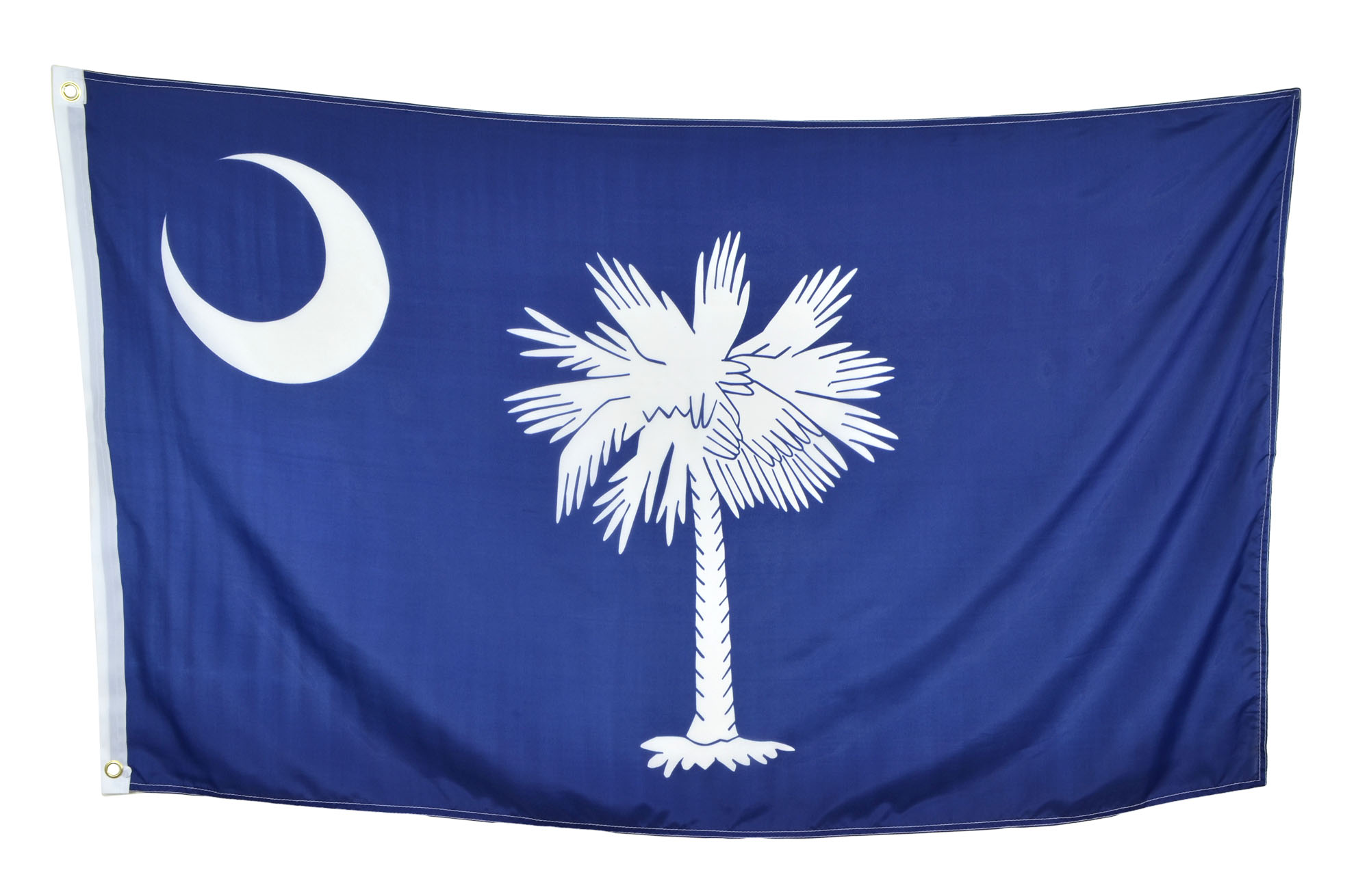 Shop72 US South Carolina State Flags - South Carolina Flag - 3x5' Flag from Sturdy 100D Polyester - Canvas Header Brass Grommets Double Stitched from