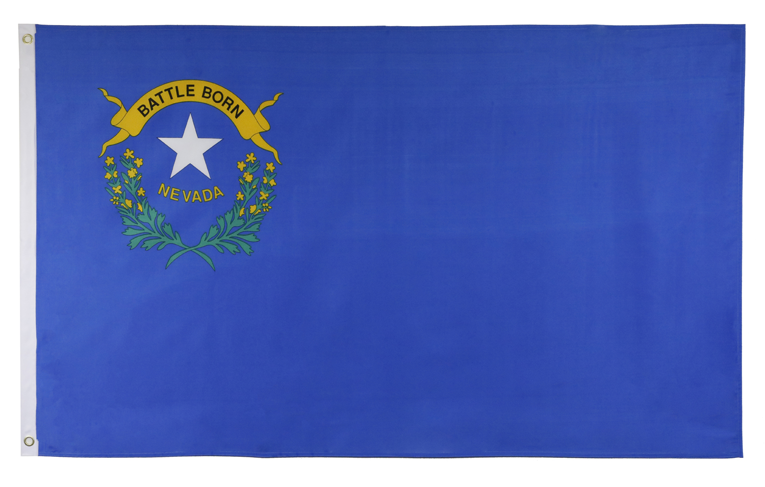 Shop72 US Nevada State Flags - Nevada Flag - 3x5' Flag from Sturdy 100D Polyester - Canvas Header Brass Grommets Double Stitched from Wind Side