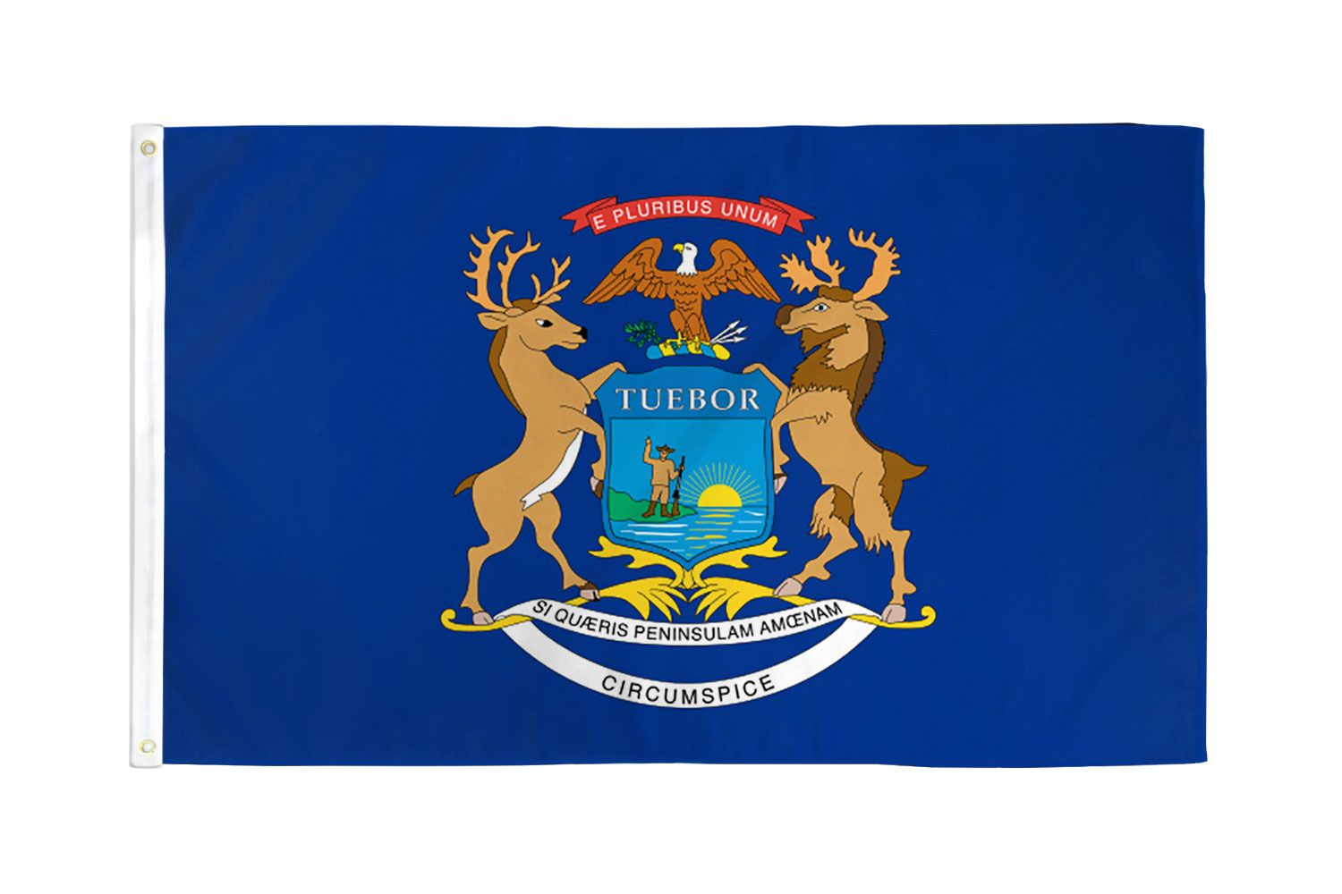 Shop72 - High Quality US State Flags - 100D 3x5 Polyester Flags - Michigan One Size
