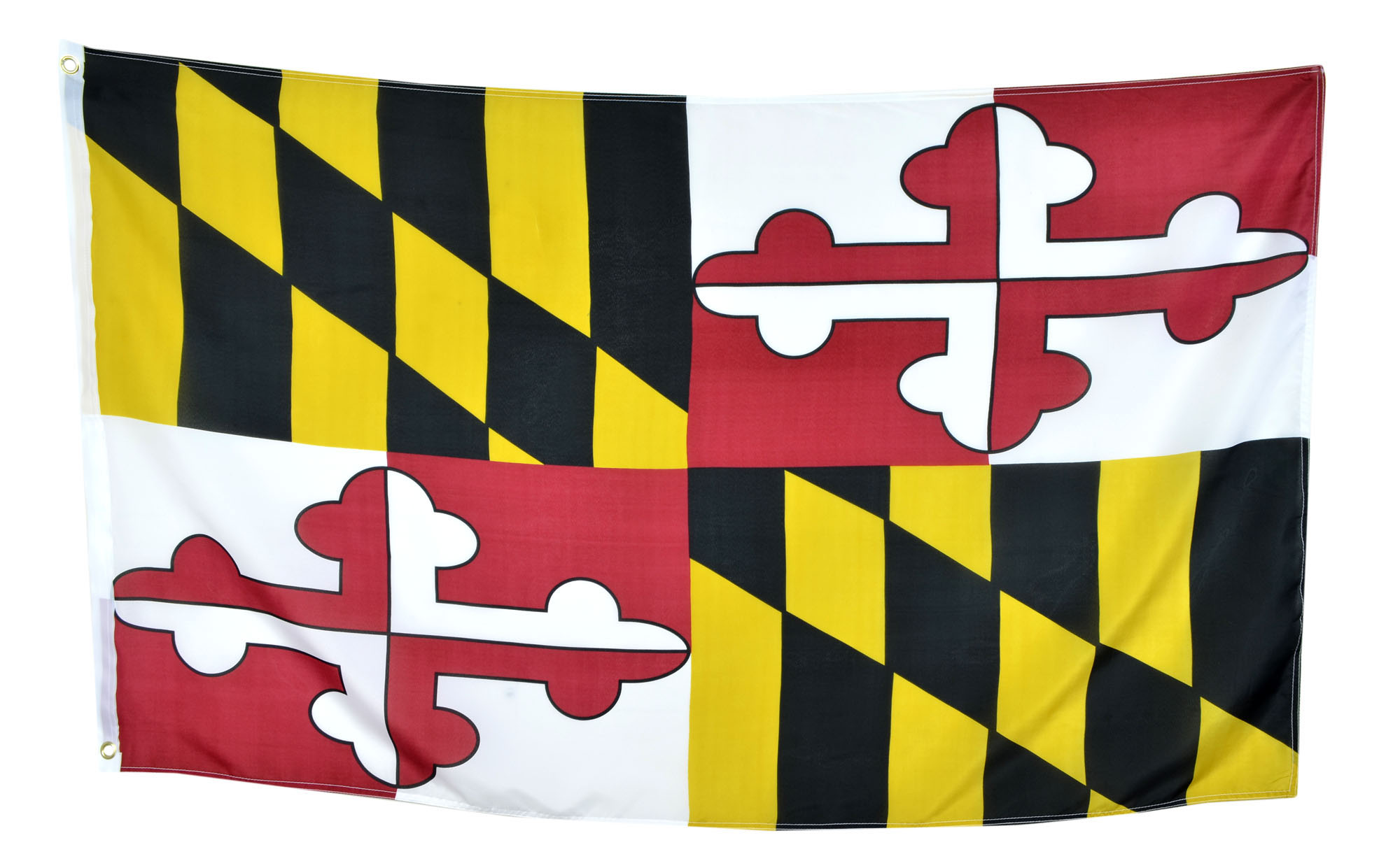 Shop72 Maryland State Flags 3x5' Sturdy Polyester Brass Grommets Double Stitched