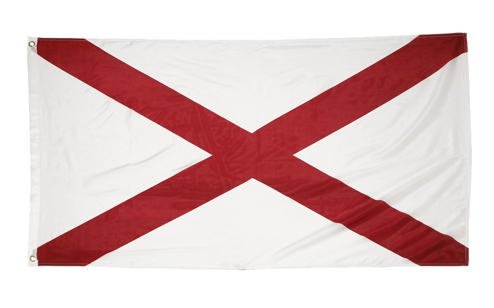 Shop72 US Alabama State Flags - Alabama Flag - 3x5' Flag from Sturdy 100D Polyester - Canvas Header Brass Grommets Double Stitched from Wind Side